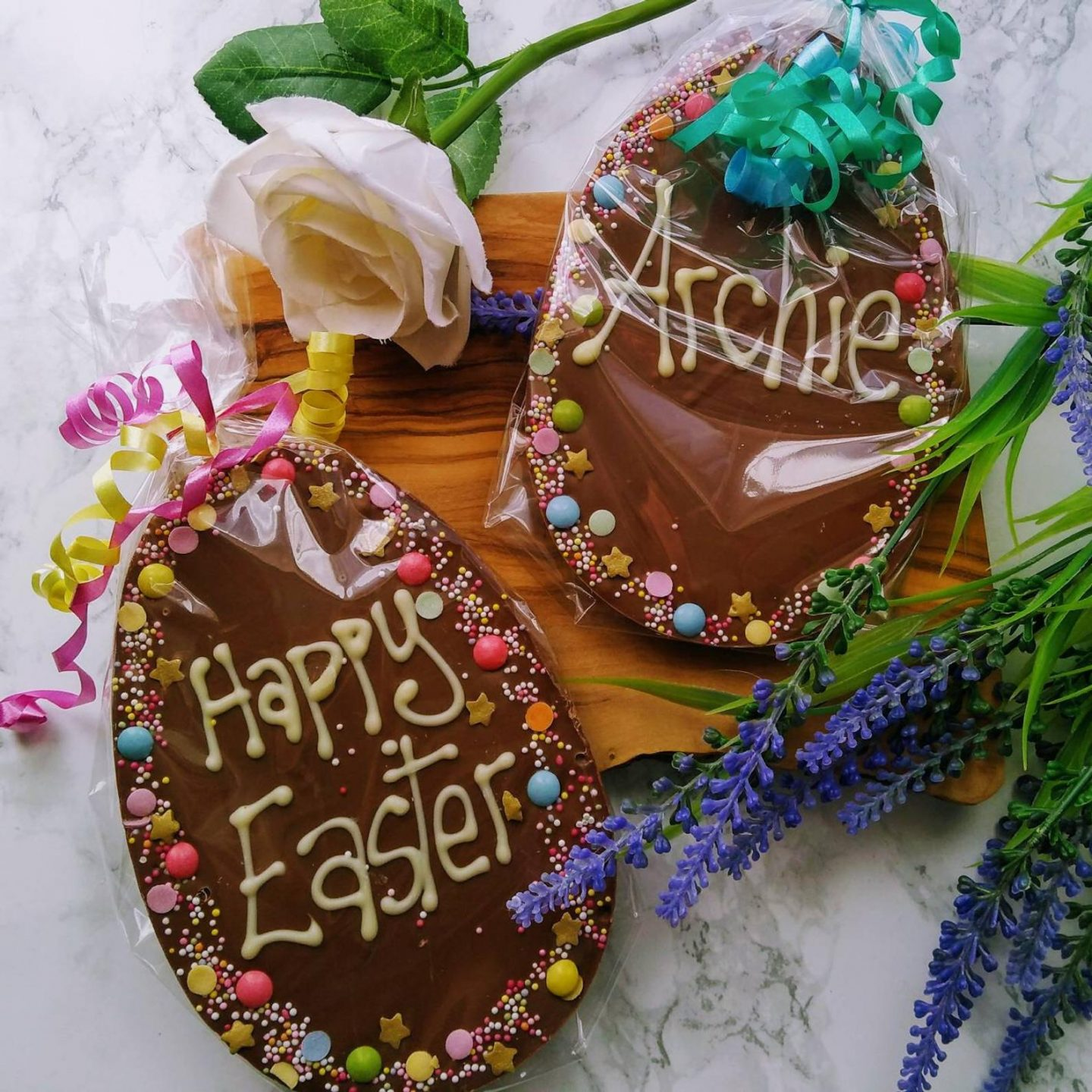 Personalized Chocolate Easter Egg Plaque