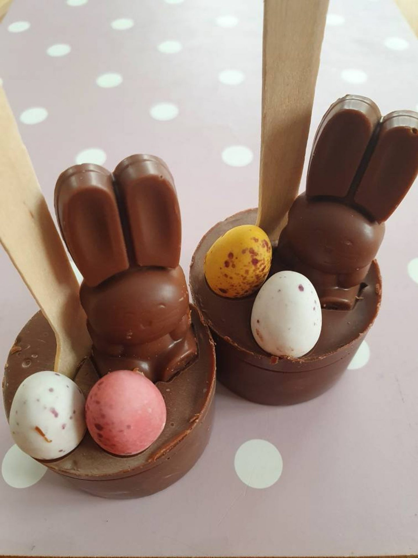 Cute Easter Hot Chocolate Stirrer Spoon With Bunny
