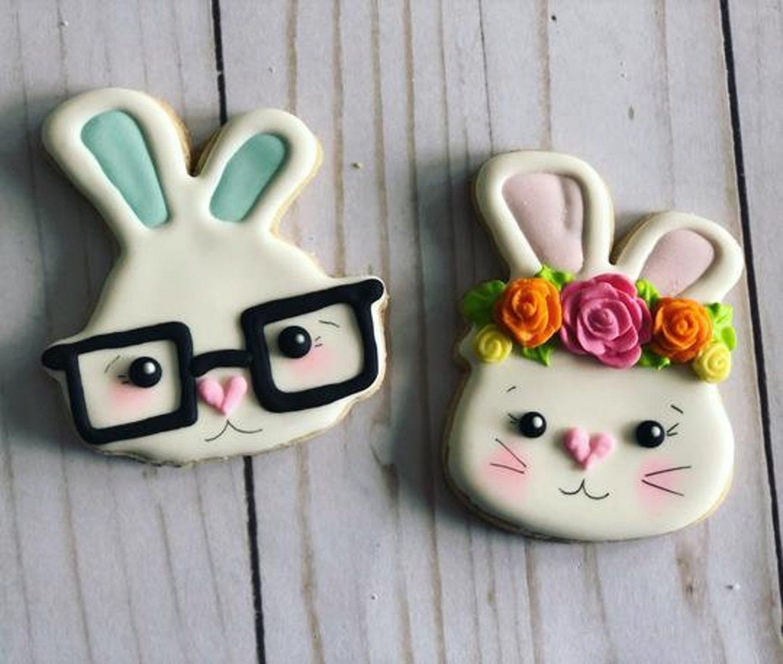 Cute Easter Bunny Sugar Cookies