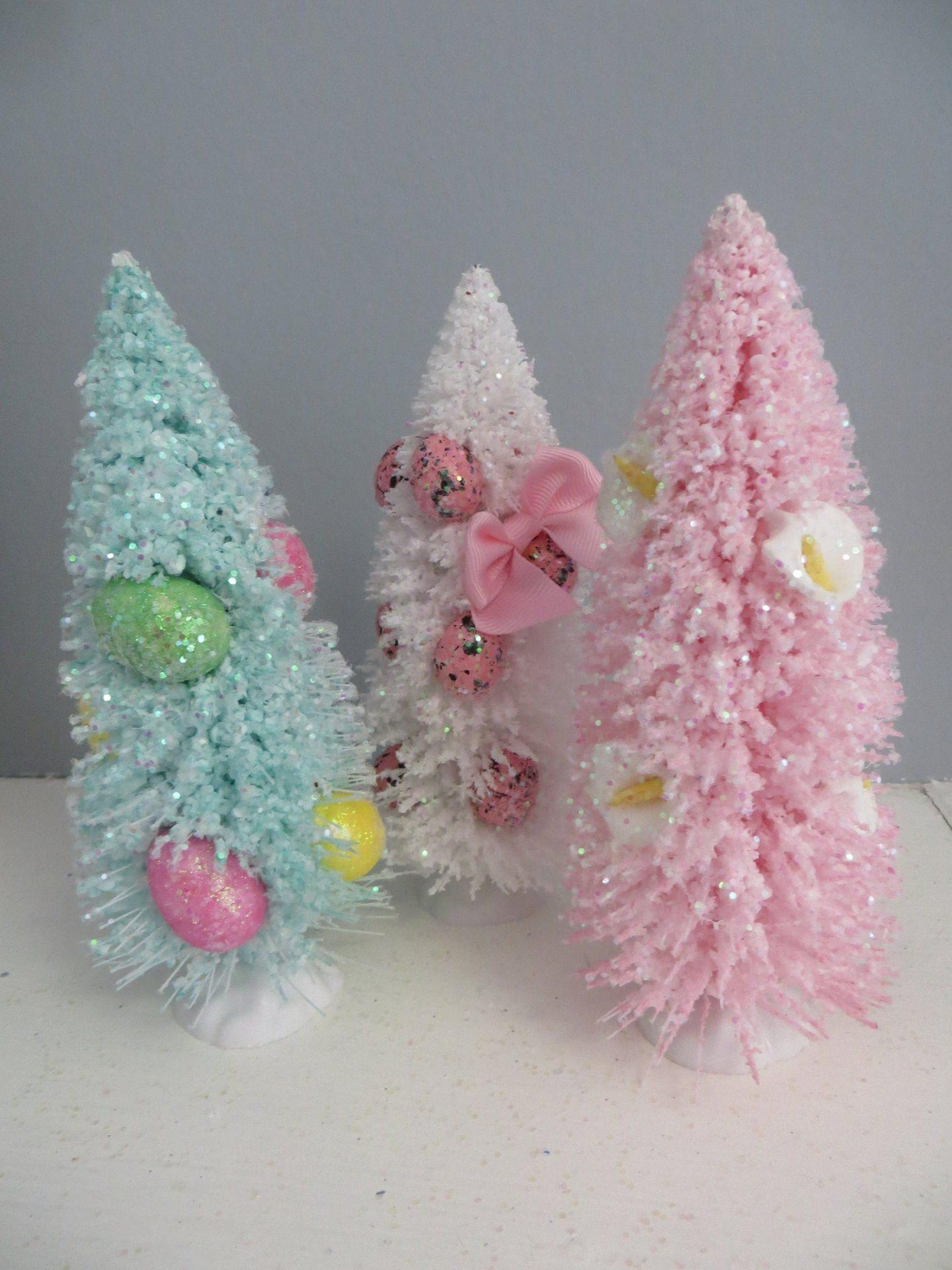 Pastel brush Easter tree