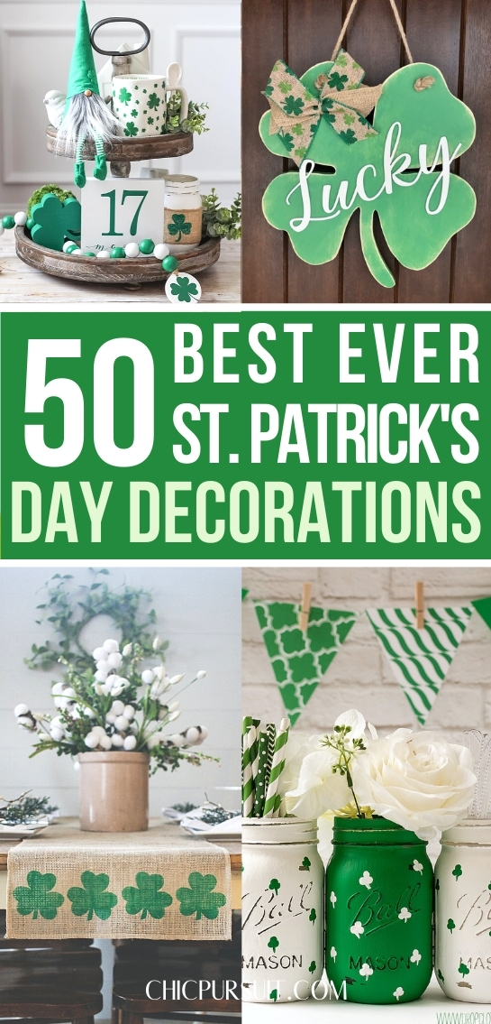 Best ever St Patricks Day decorations and decor ideas