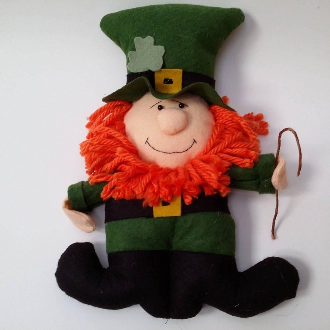 St. Patrick's Day decor ideas - leprechaun plushie