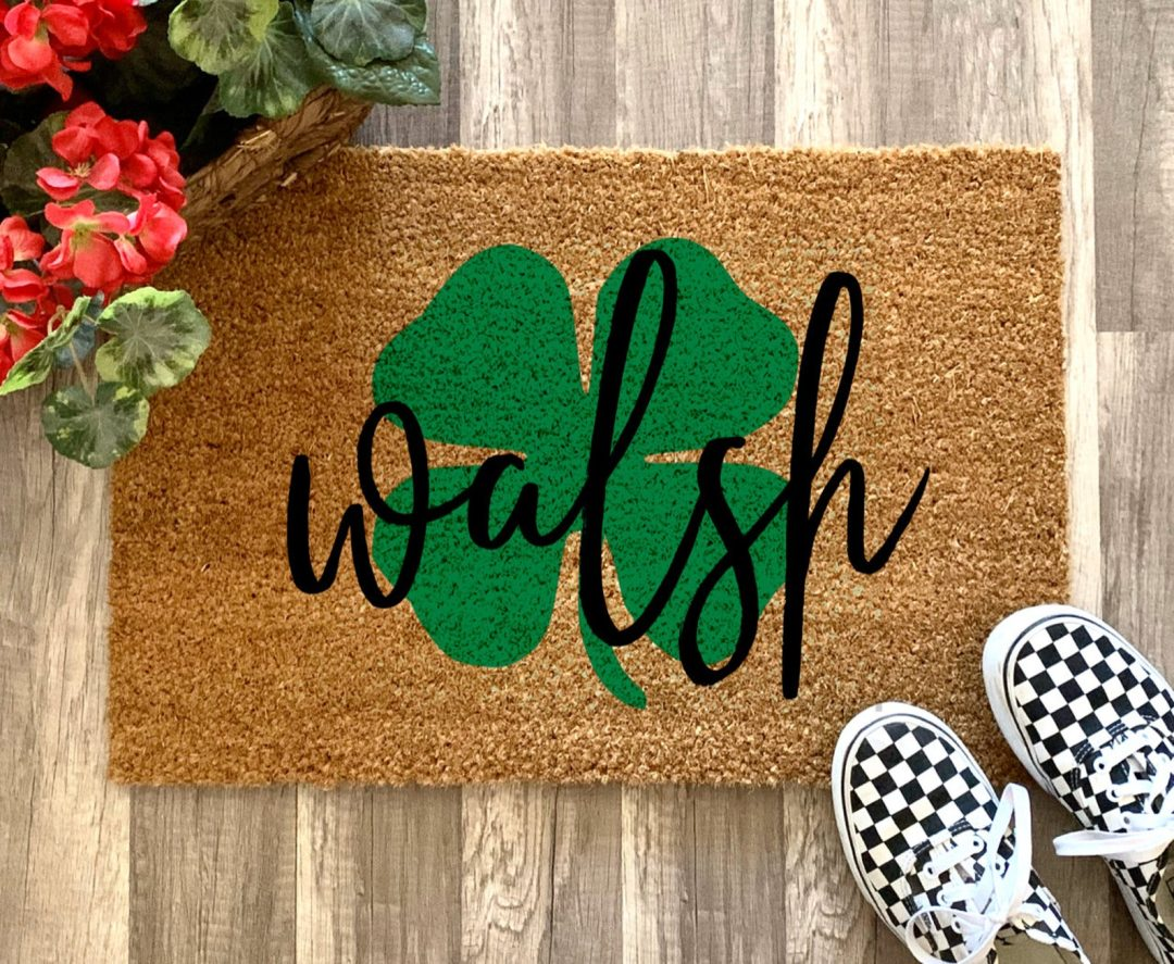 St. Patrick's Day decor ideas - St Patrick's Day door mat