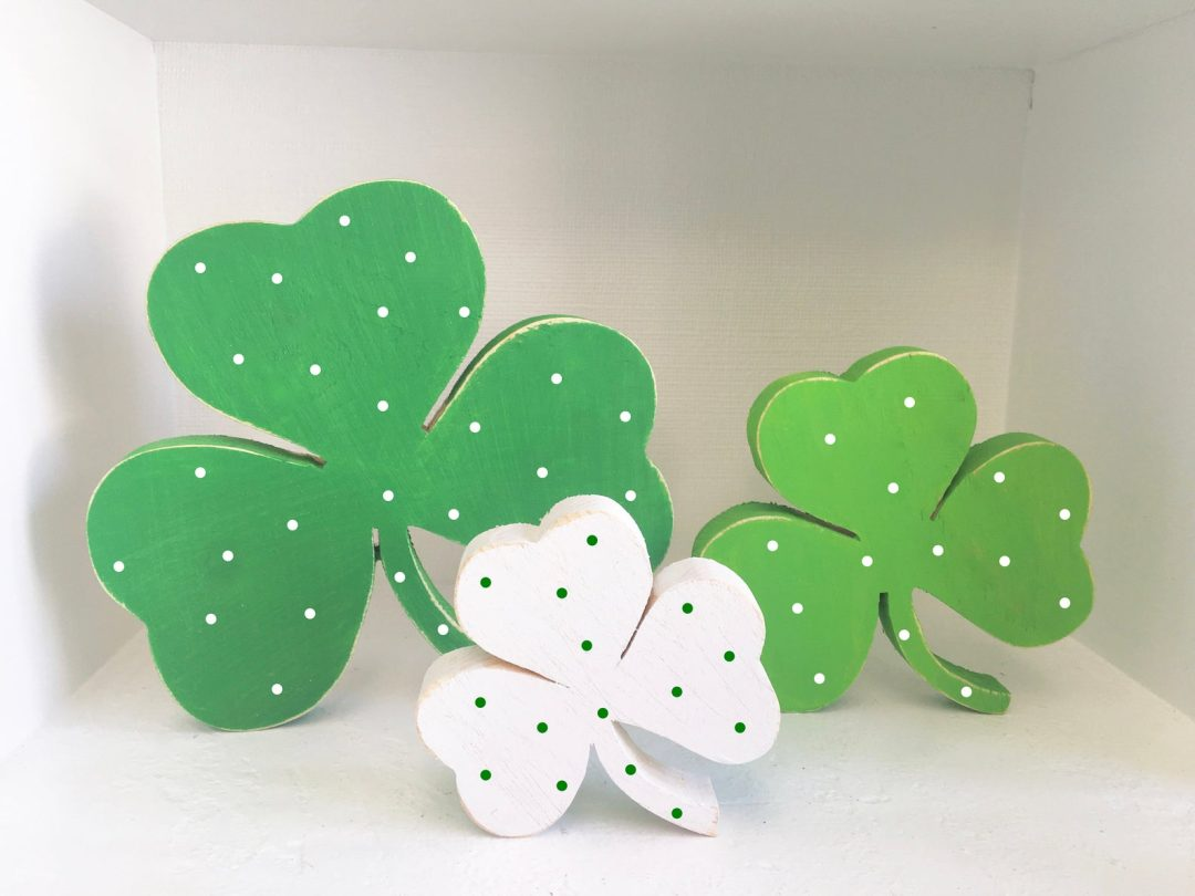 St. Patrick's Day decor ideas - wooden shamrock