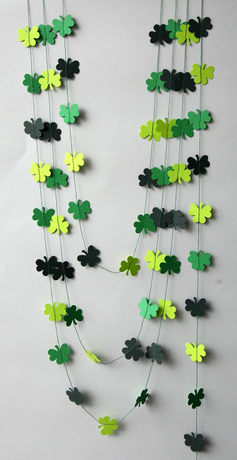 St. Patrick's Day garland, shamrock garland