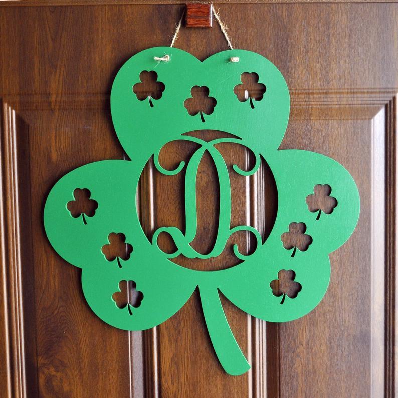 St. Patrick's Day door hanger, shamrock door hanger
