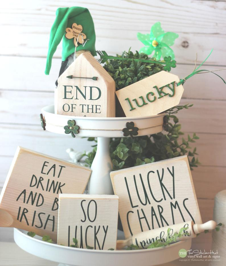 St. Patrick's Day decorations - wooden signs