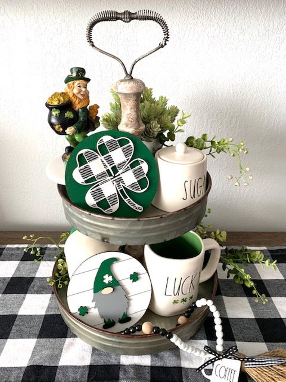 St. Patrick's Day tray decor ideas