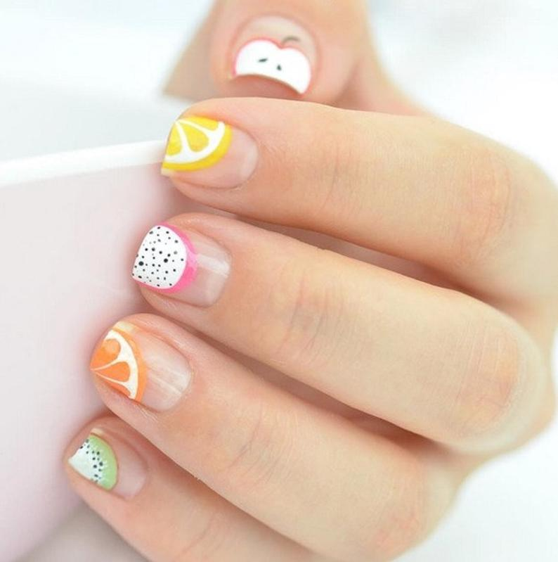 Cute summer nails with fruits