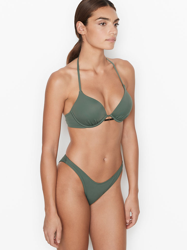 Best olive green swimsuits for a flat chest: Victoria's Secret
