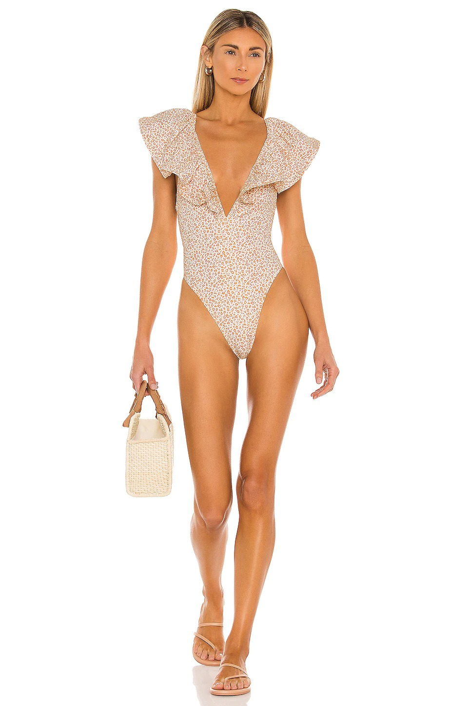 Ruffled one piece swimsuits for flat chest