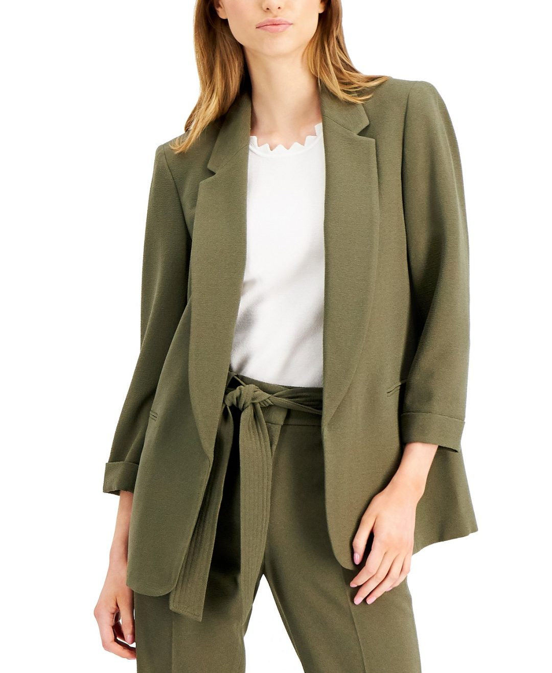 Khaki green relaxed blazer