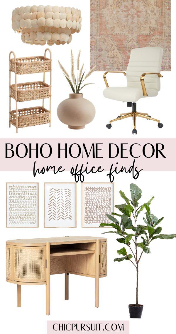 Boho home office ideas