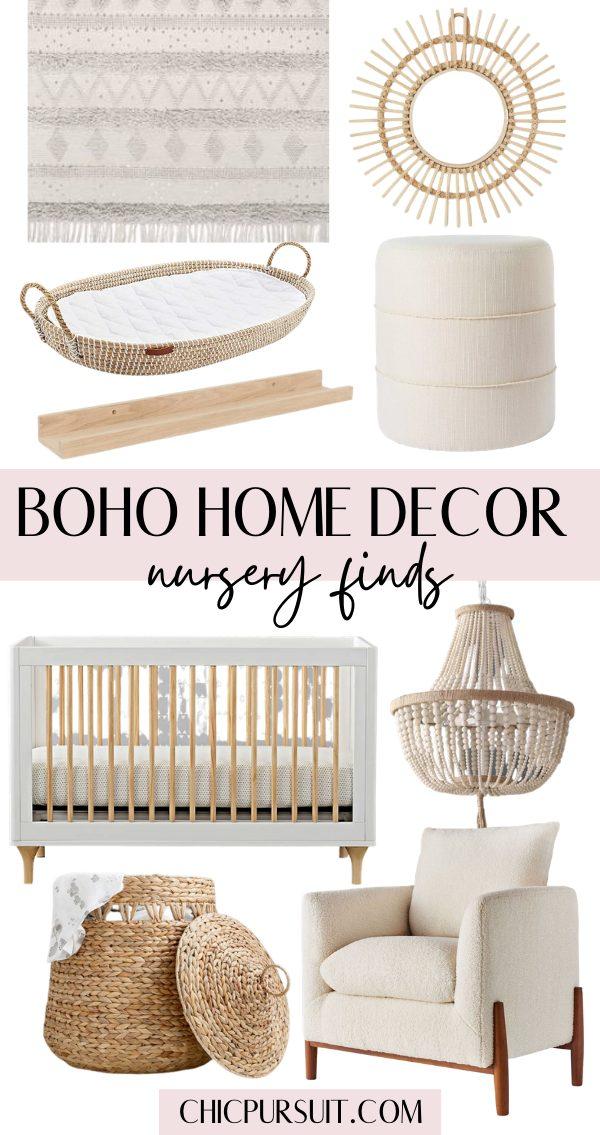 Boho nursery and baby room finds