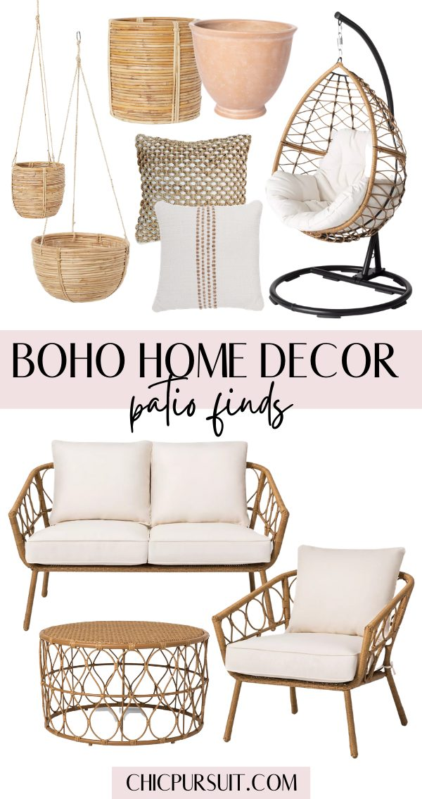 The best boho patio finds