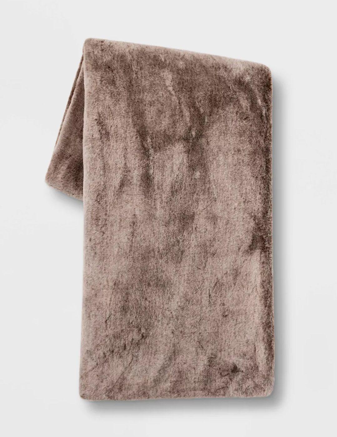 "Threshold™ 50"" x 60"" Faux Rabbit Fur Throw Blanket"
