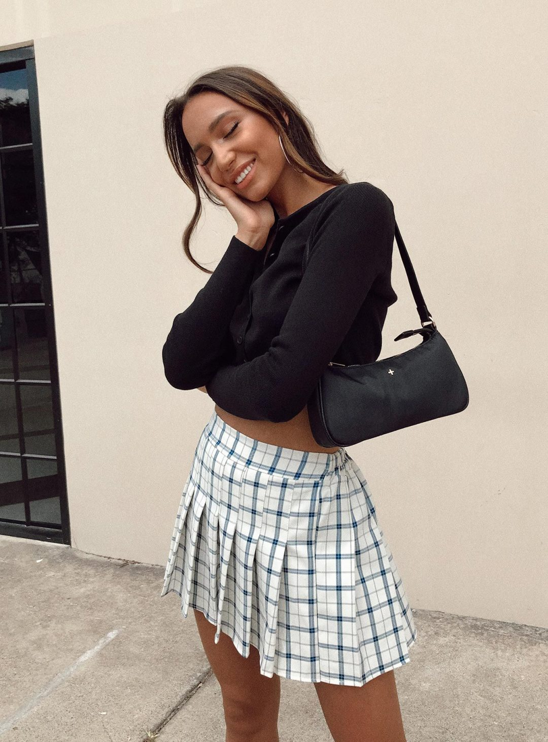 Plaid mini skirt outfits