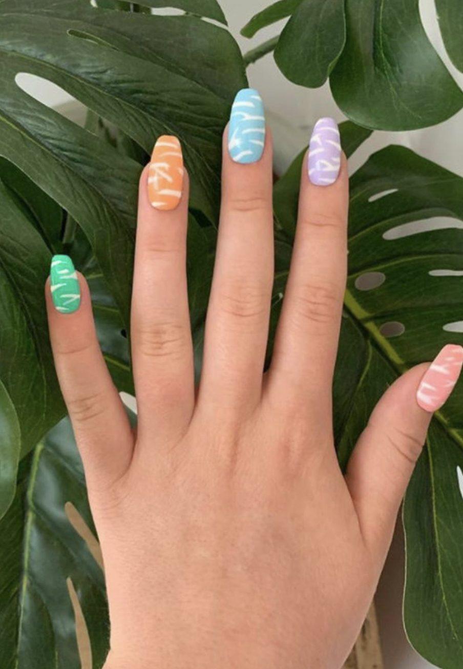 Trendy pastel ombre nail ideas
