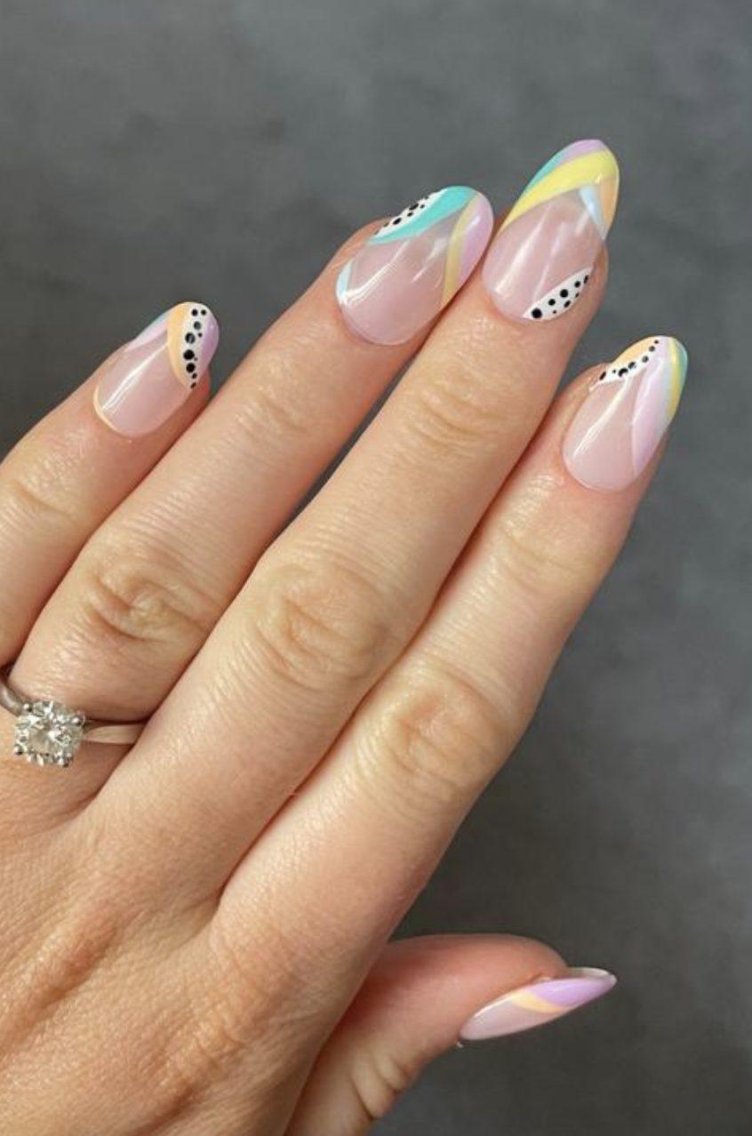 Trendy pastel nail art ideas