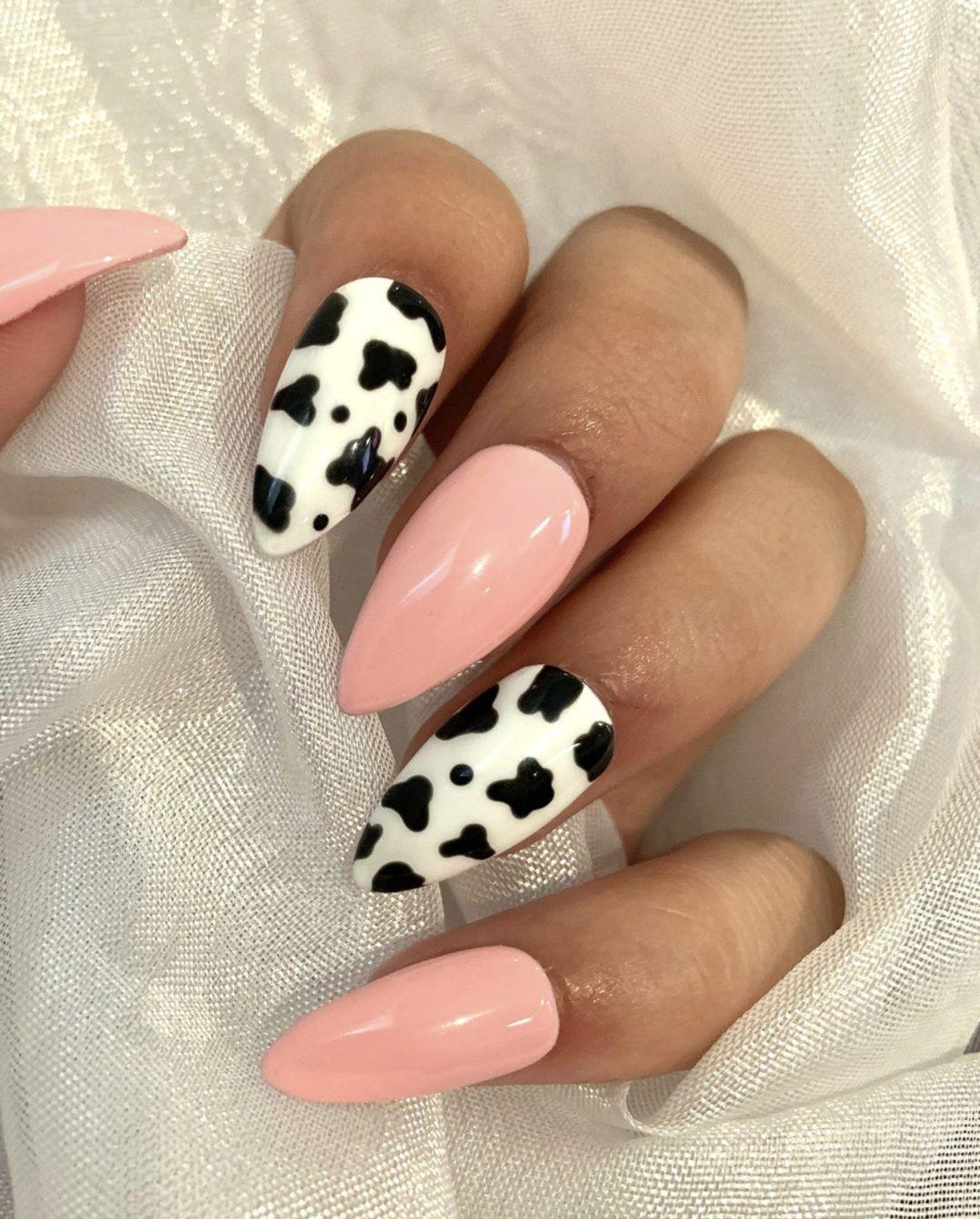 30+ Cute Cow Print Nail Designs That You'll Love