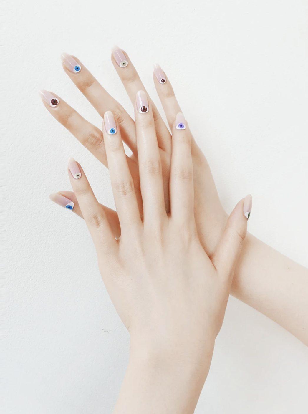 Cute evil eye nails
