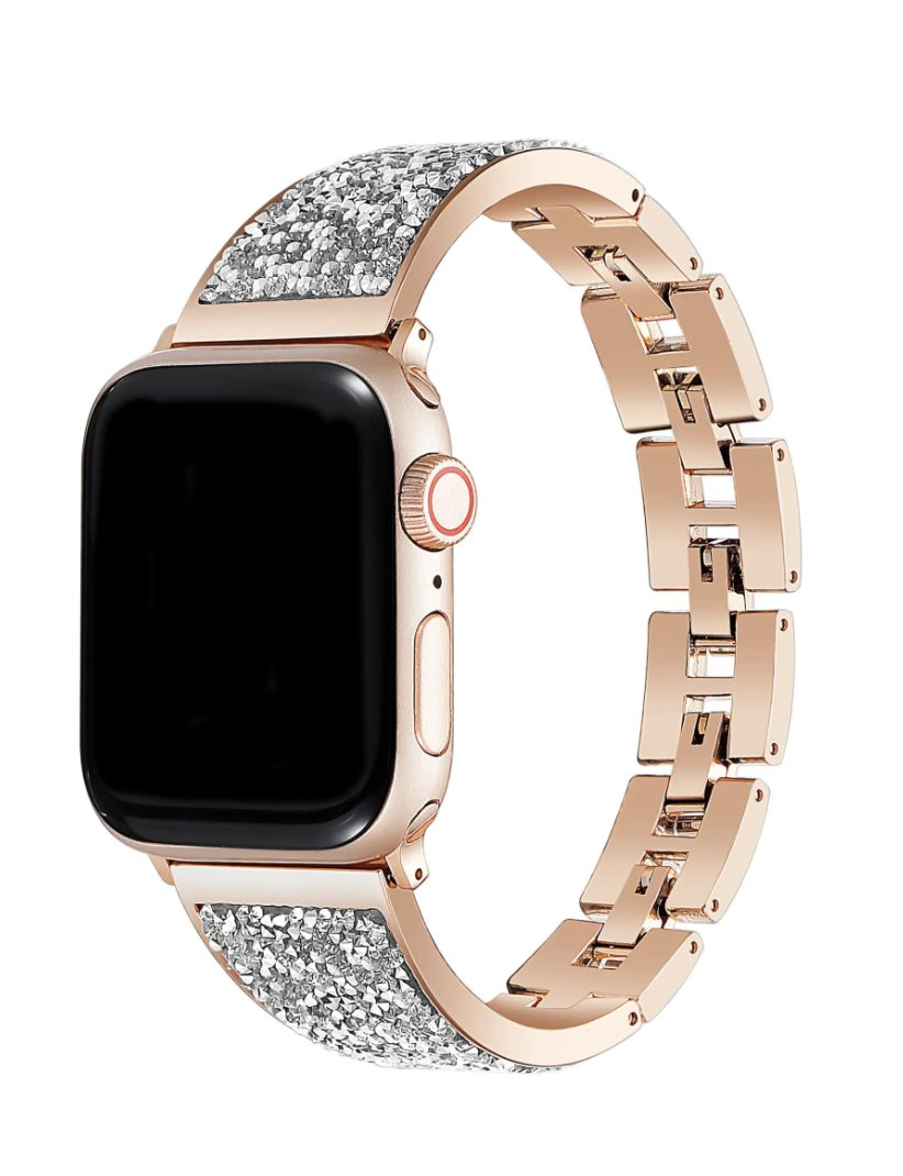 Gifts every girl wants from her boyfriend: Rose Gold Stainless Steel Bracelet Strap For Apple Watch