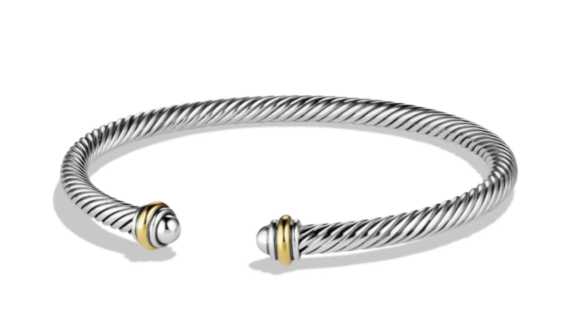 Luxury gifts every girl wants: David Yurman Cable Classics Bracelet With 18k Gold