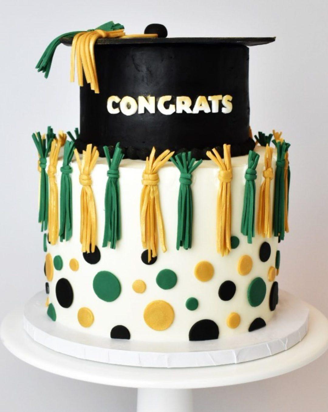 Colorful grad cake