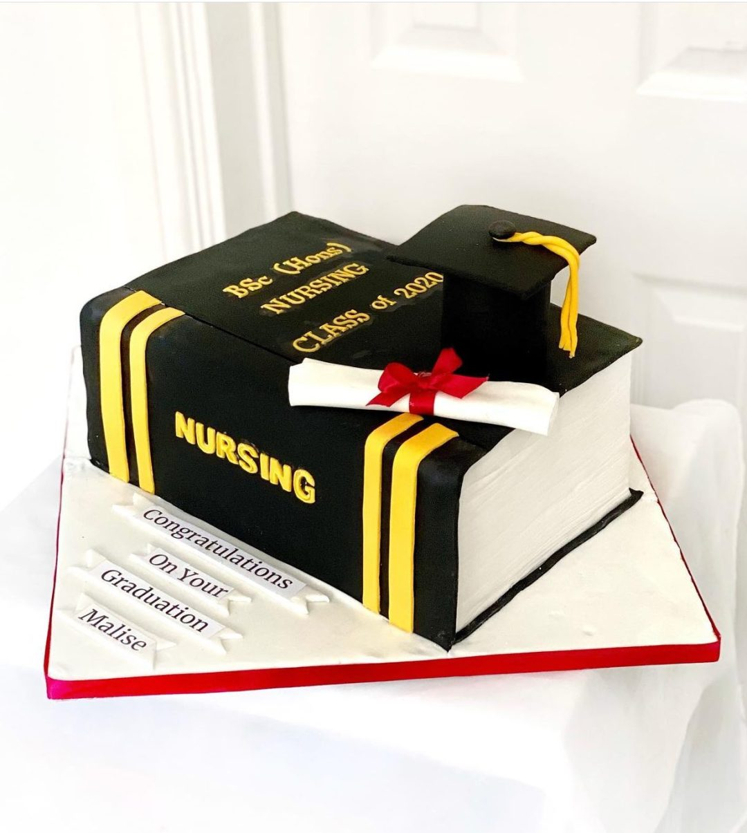 Nursing graduation cake