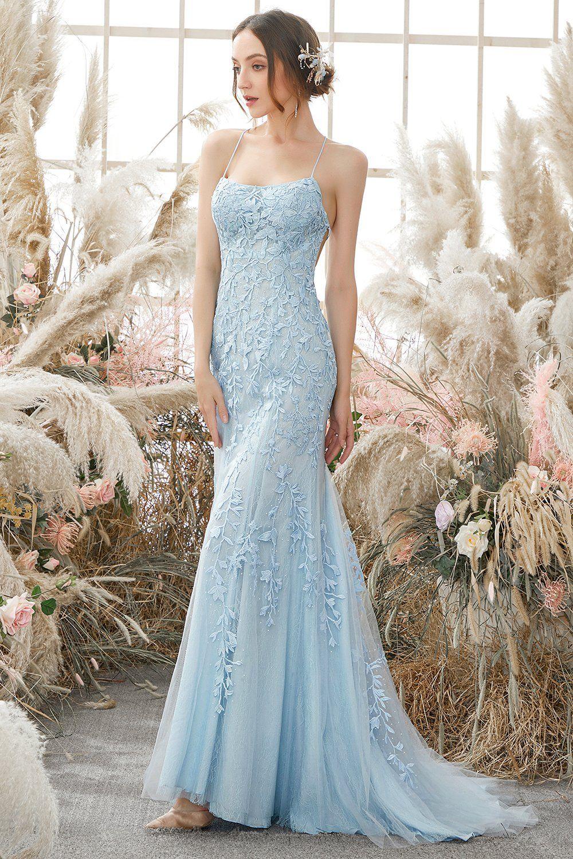 Light blue embroidery dress