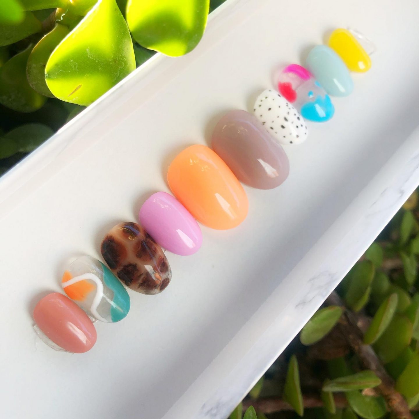 Cute and colorful mix and match press on nails