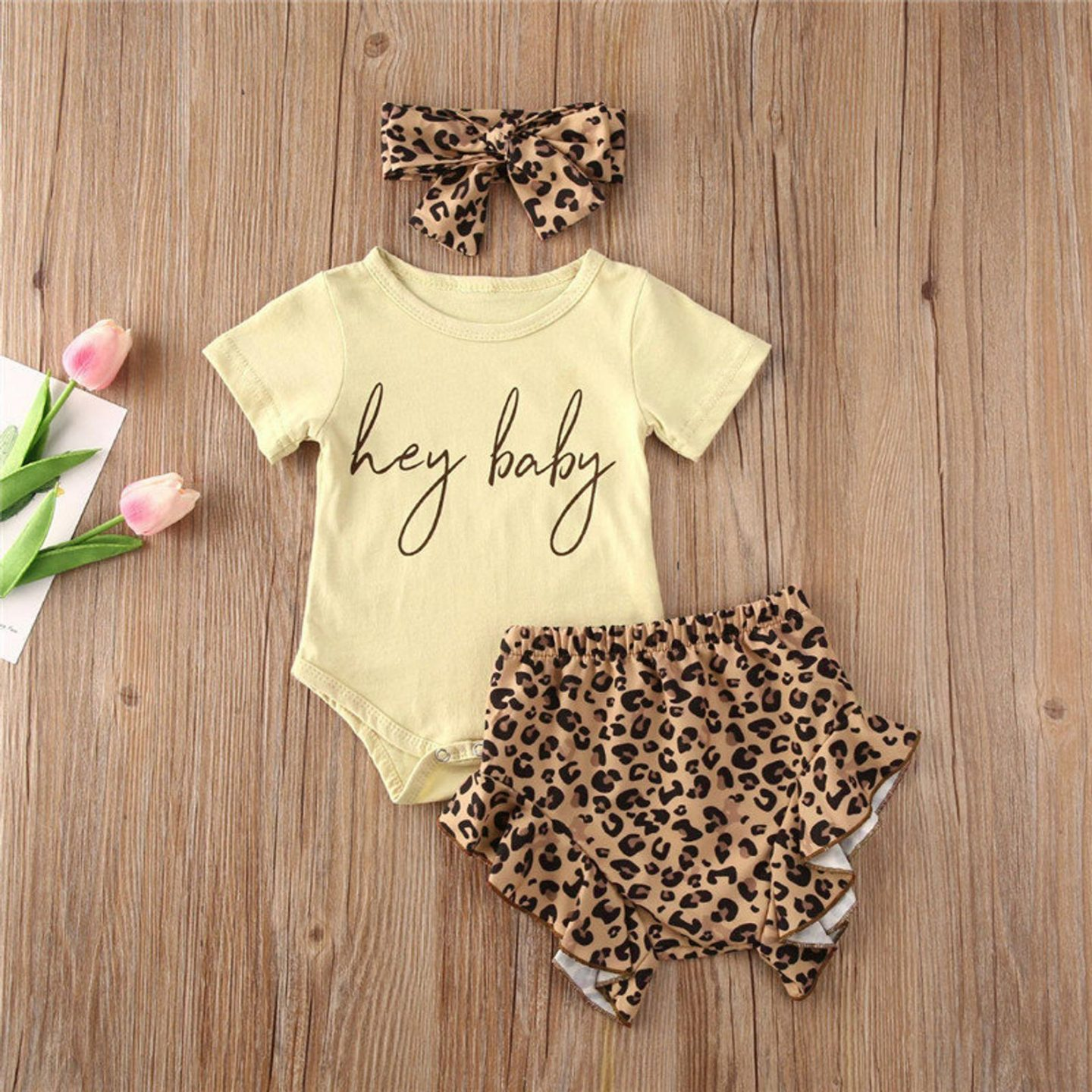 Cute baby girl outfits for toddlers with leopard print