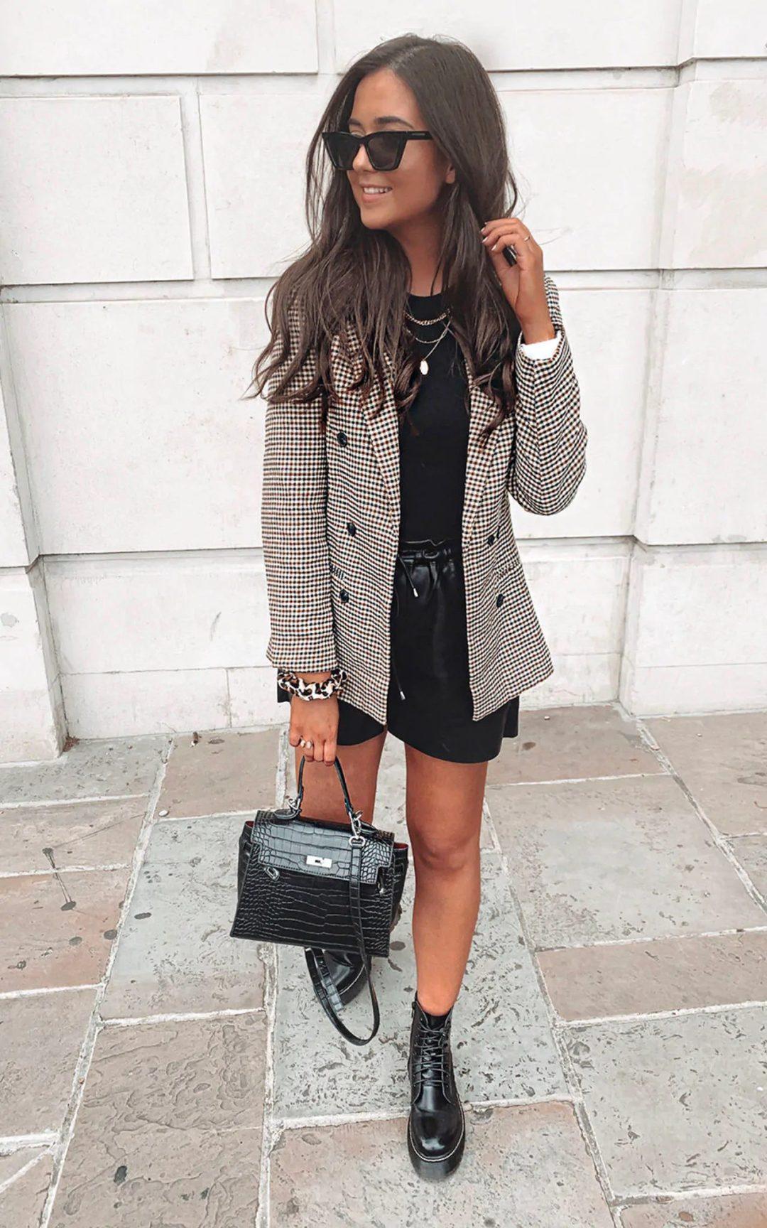 Plaid blazer outfits