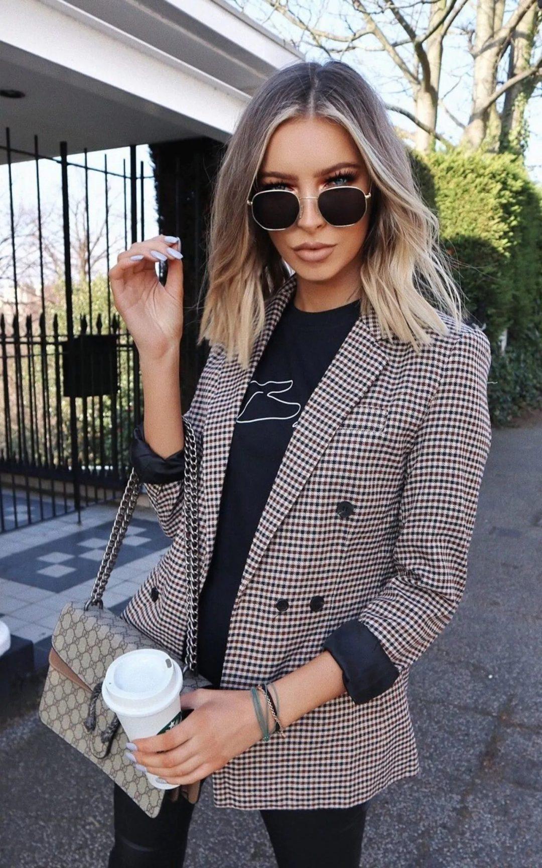 Plaid blazer styling ideas