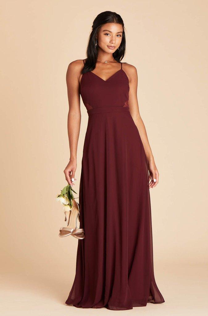 Affordable burgundy bridesmaid dress