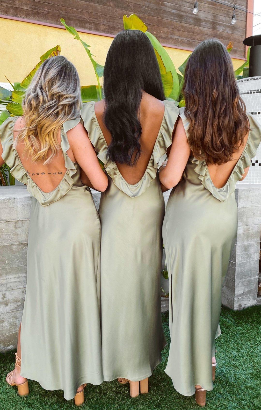 Affordable sage green bridesmaid dresses