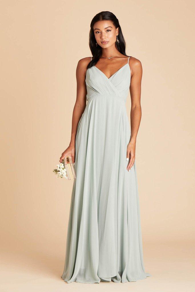 Affordable light grey bridesmaid dress