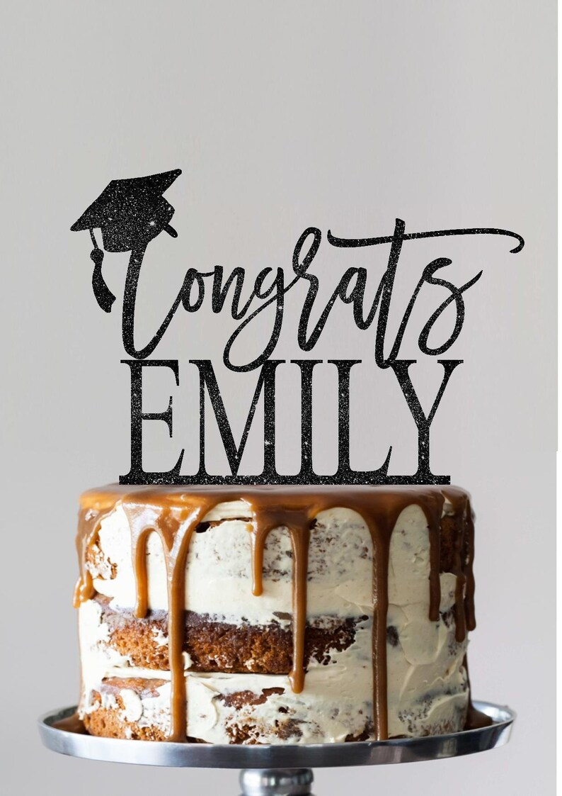 Custom graduation cake toppers