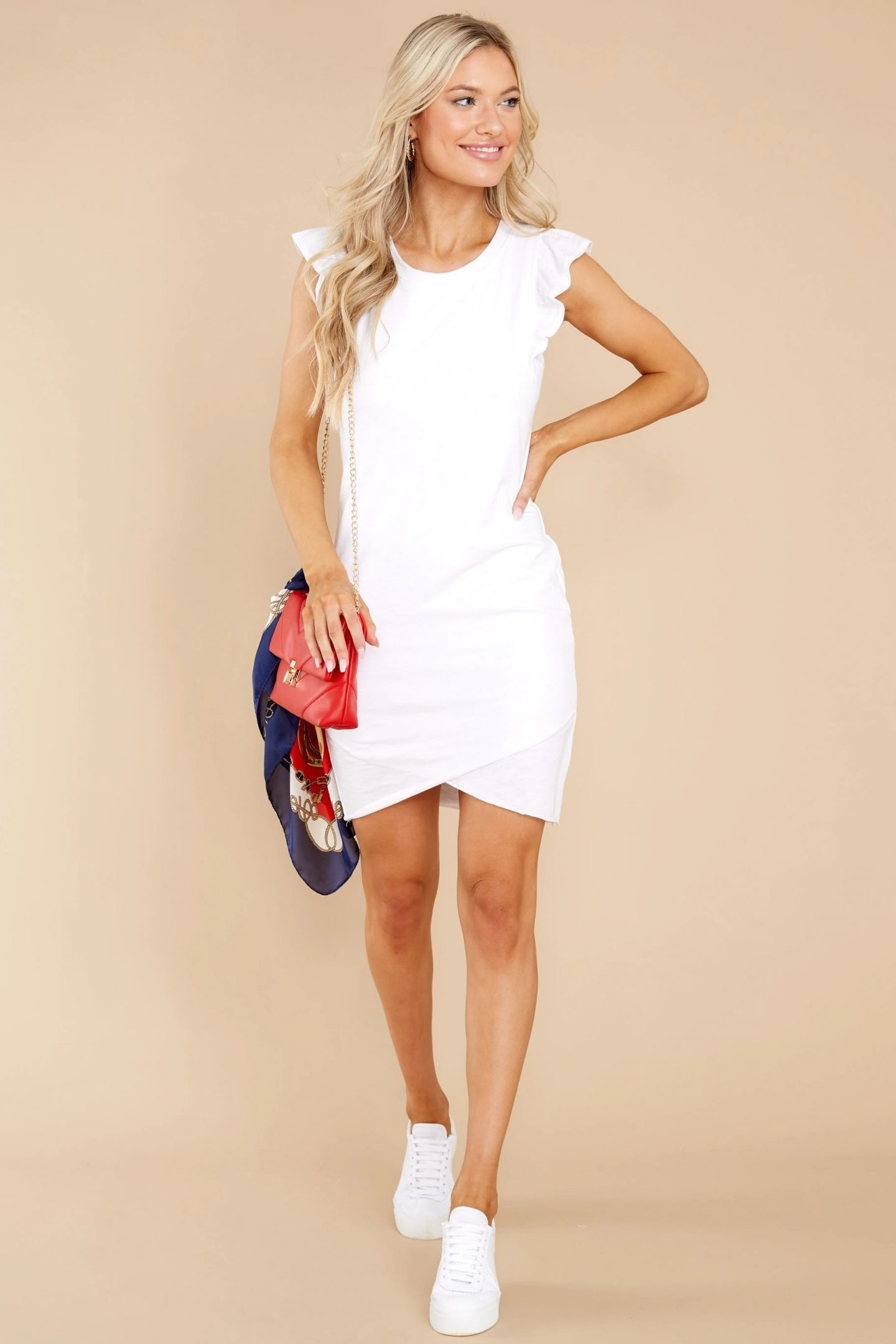 Casual white dress for graduation