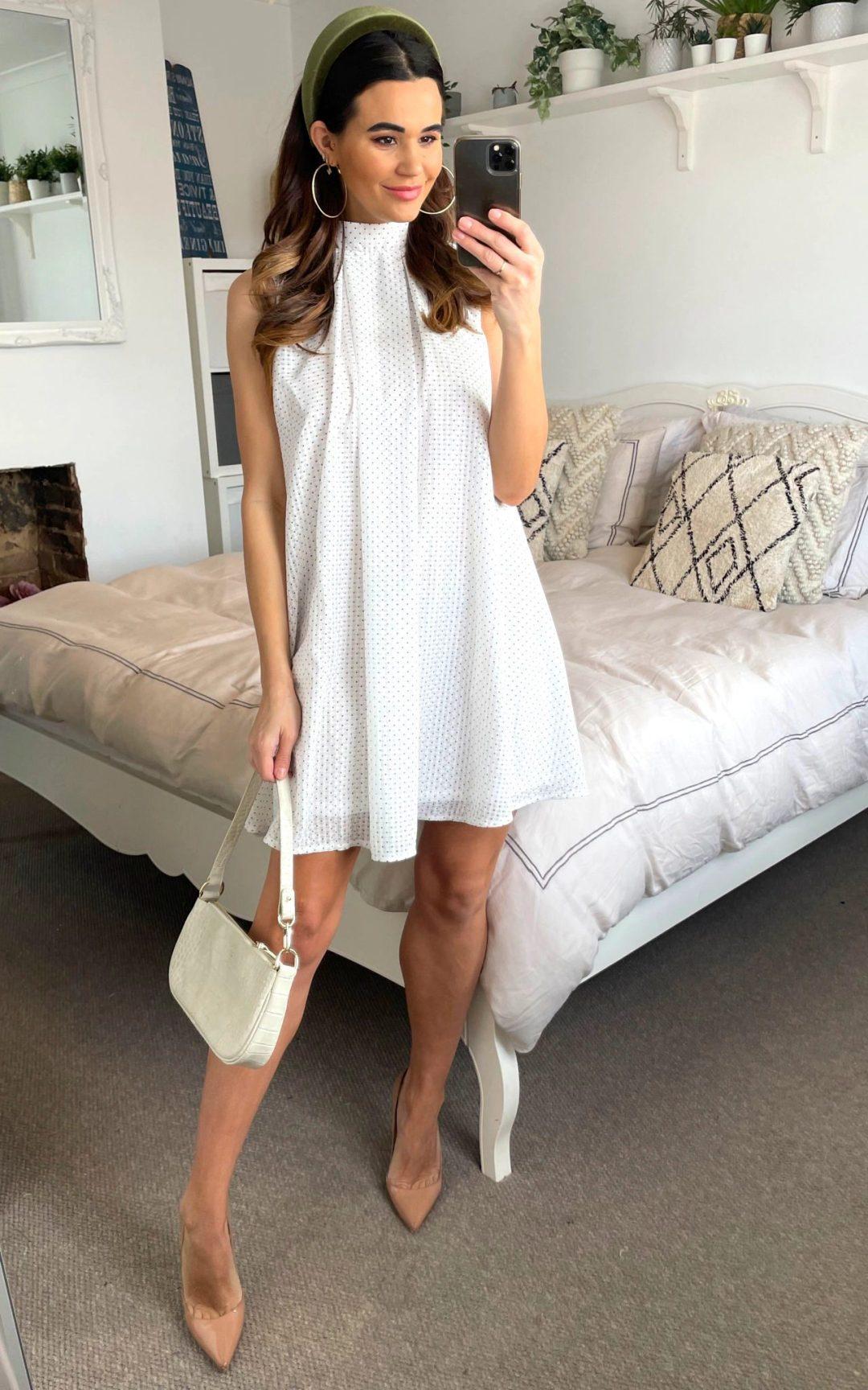 Affordable white graduation dress