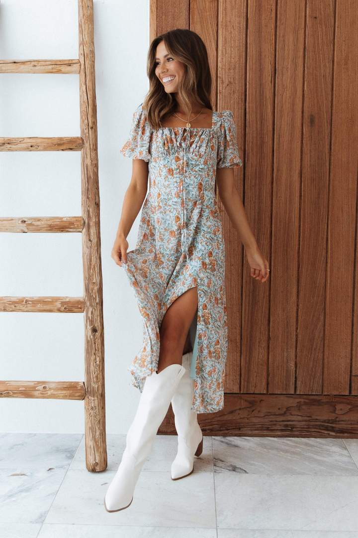 Floral spring dress outfits