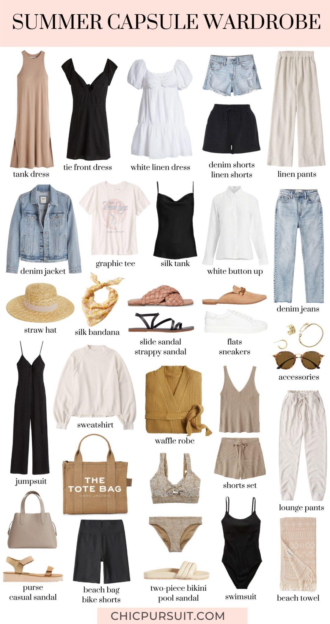 How to create a neutral summer capsule wardrobe