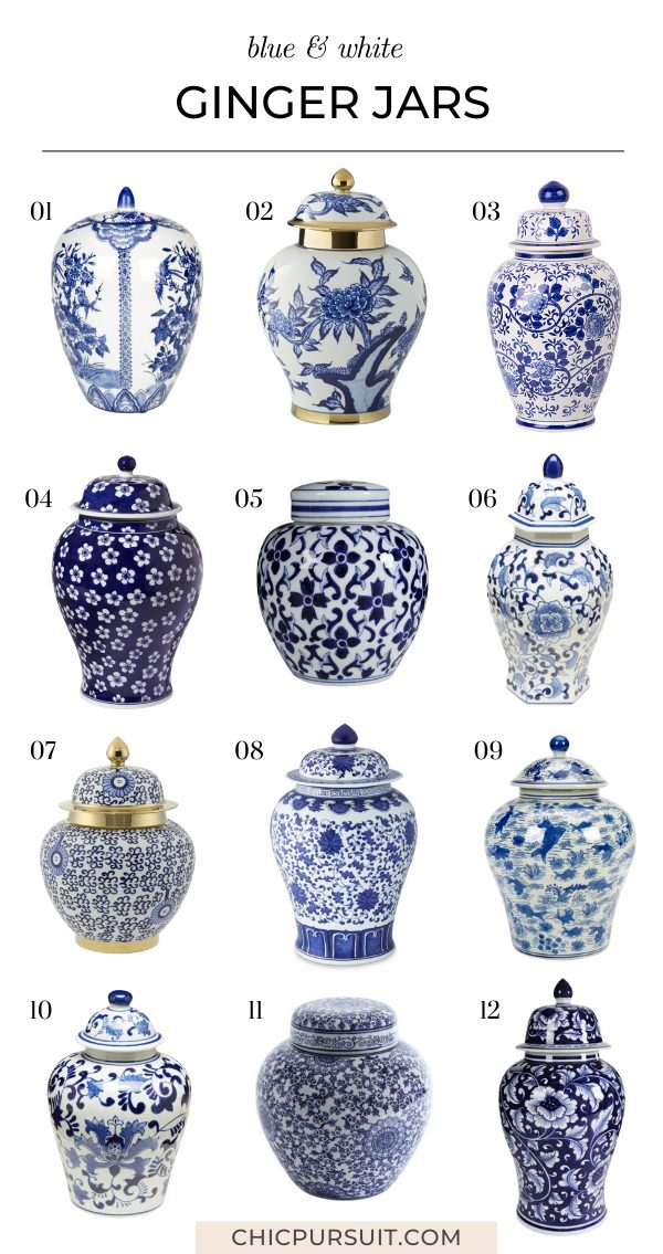 The best affordable blue and white ginger jars