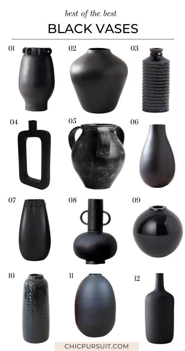 The best minimalist and decorative black vases