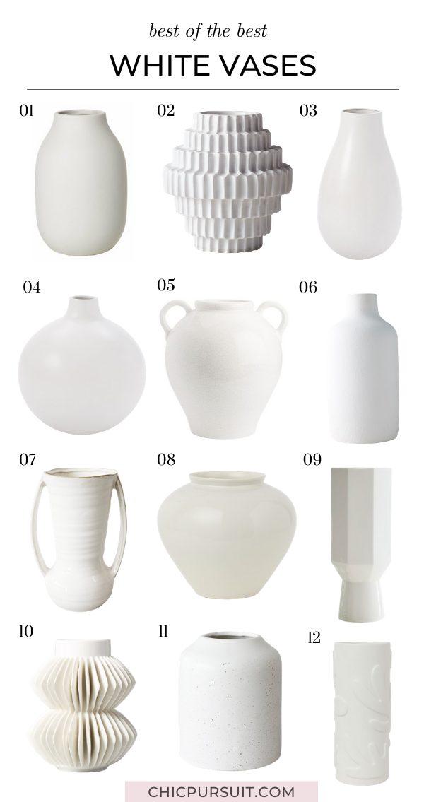 The best affordable minimalist white vases
