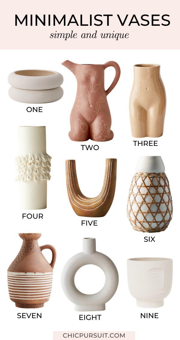 The best unique minimalist vases