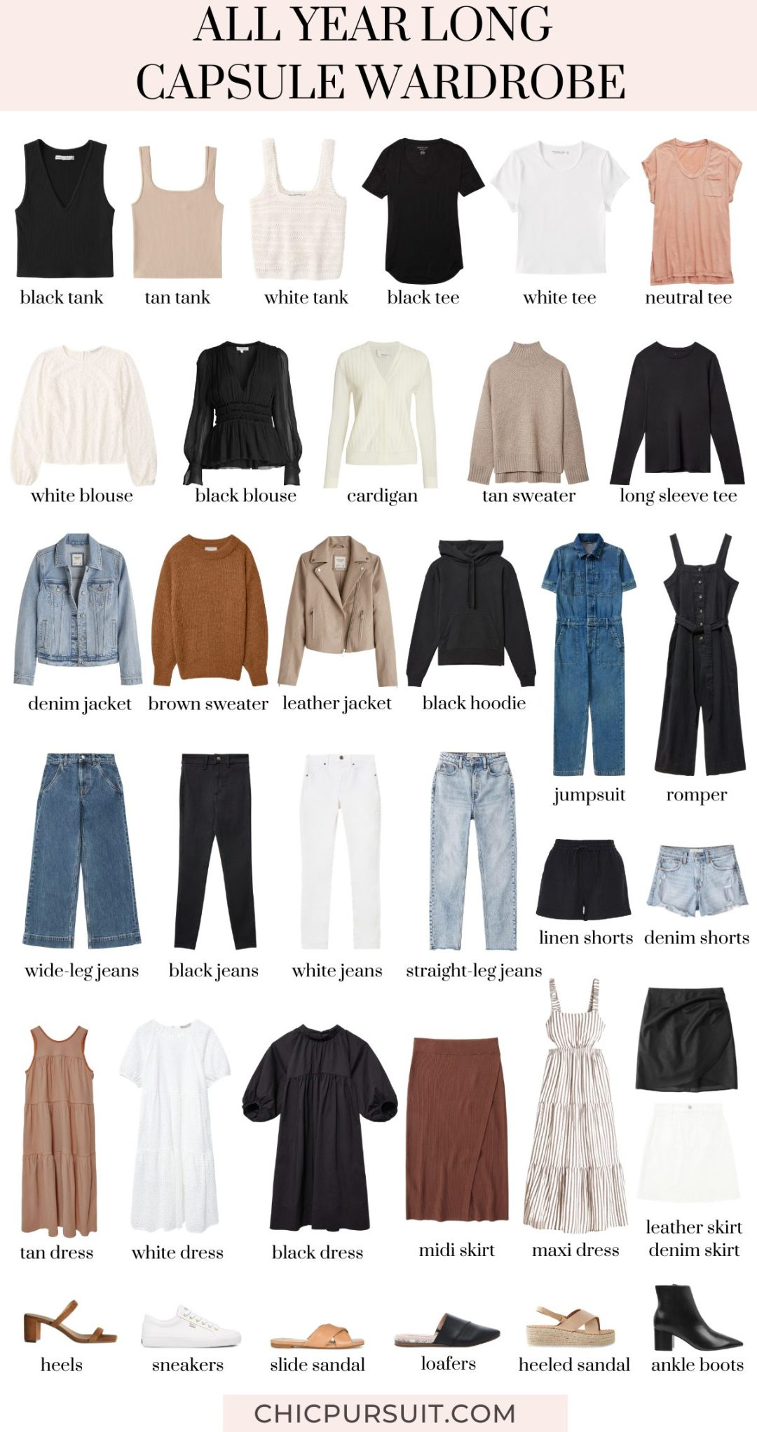 How to build a year round capsule wardrobe from scratch for the whole year