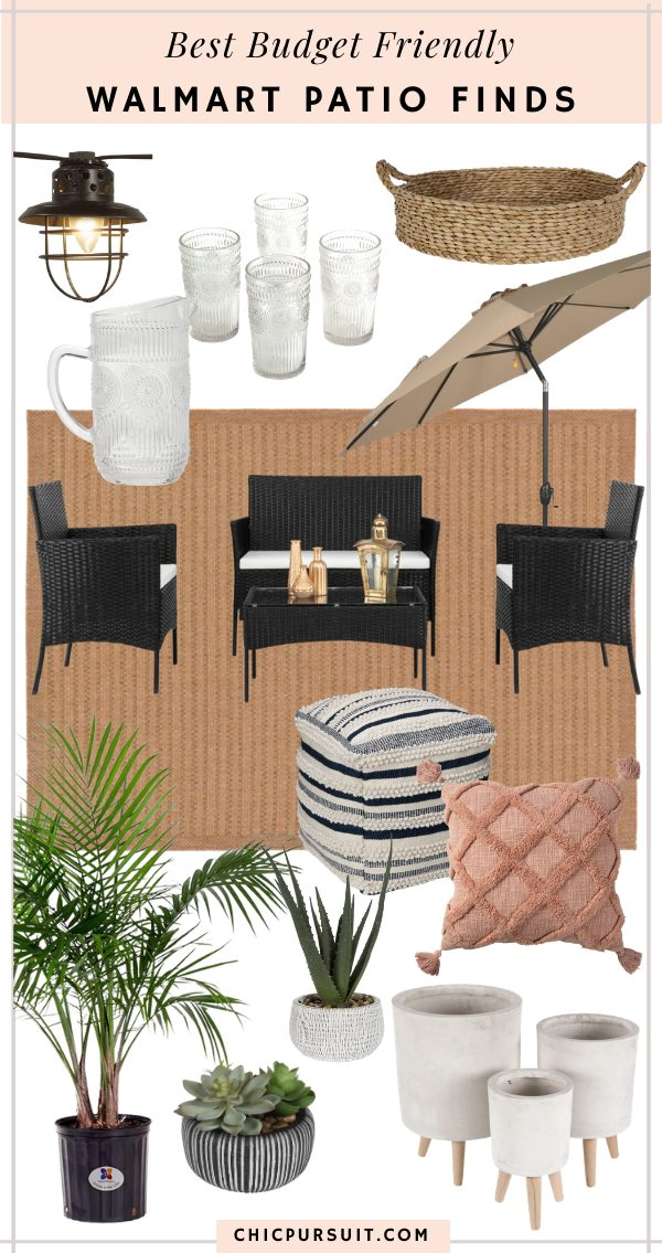 Affordable Walmart patio decor finds