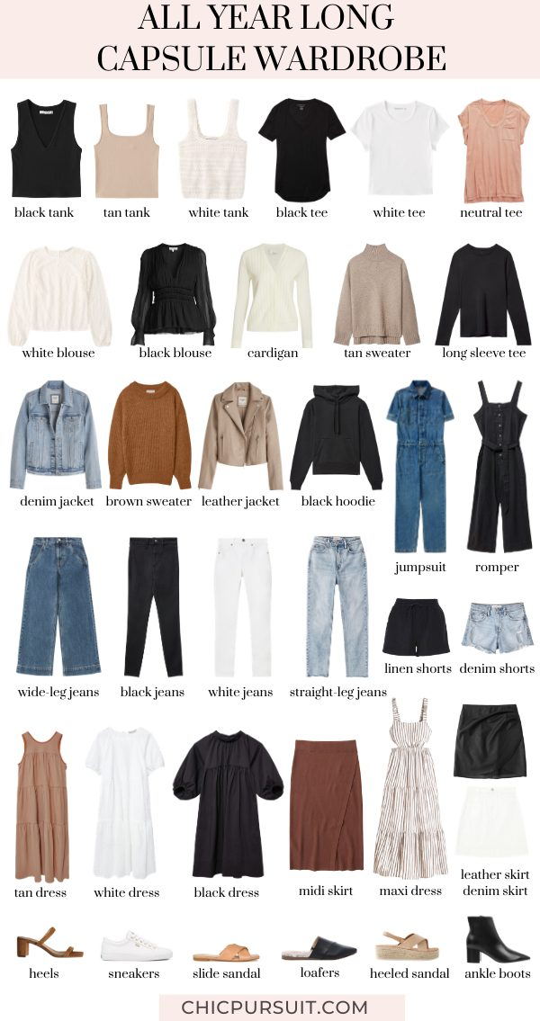 How To Build The Perfect Capsule Wardrobe For The Entire Year
