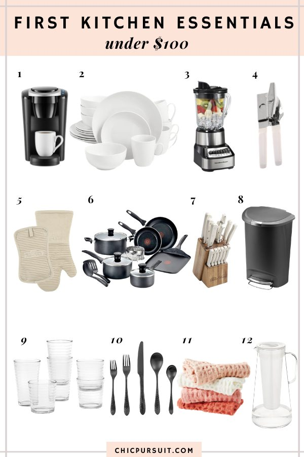 12 Must Have Kitchen Essentials For Your First Apartment Under $100